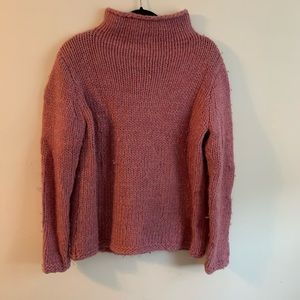 Fuzzy Pink Sweater-Madewell